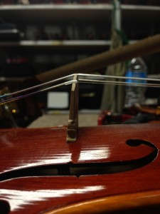 Bridge placement , Warped bridge, Aubert, violin care