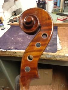Maple Violin Scroll