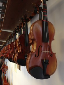 Different size Violins