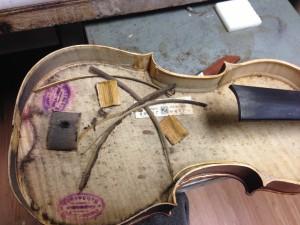 Damaged violin